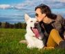 Cachorro e dona