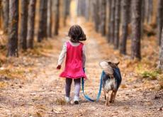 Cão e menina