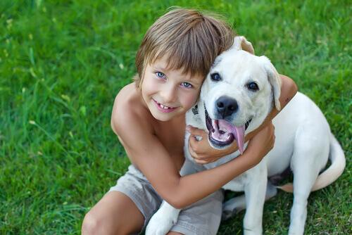 cão-com-criança