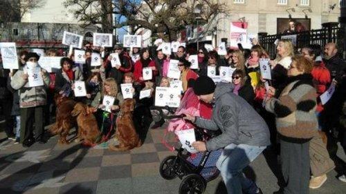 Grande marcha em defesa dos direitos dos animais