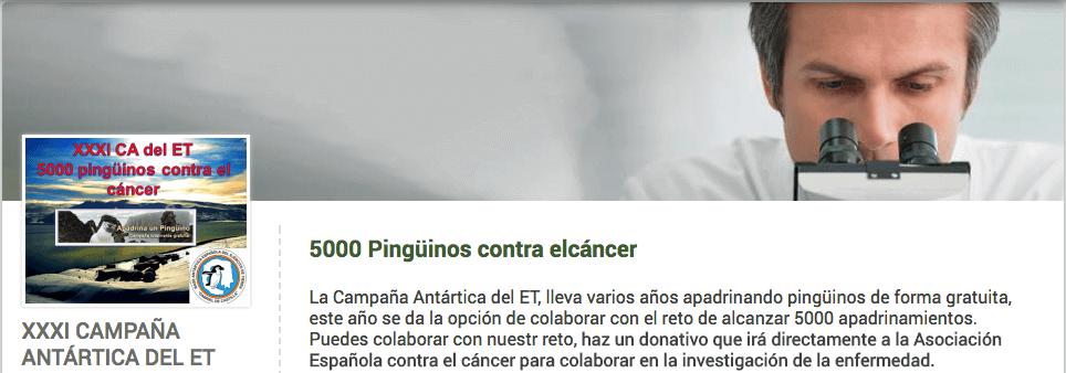 Associação para tratamento do câncer em pinguins
