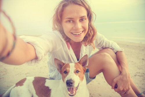 como fotografar cães: selfie com cachorro