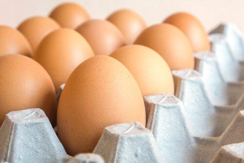 Bandeja de ovos caipiras