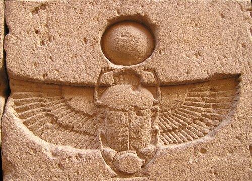 O escaravelho era um animal sagrado para os egípcios