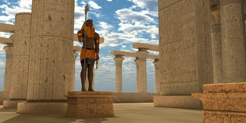 Antigo templo egípcio
