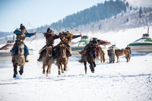 Cavaleiros na Mongólia