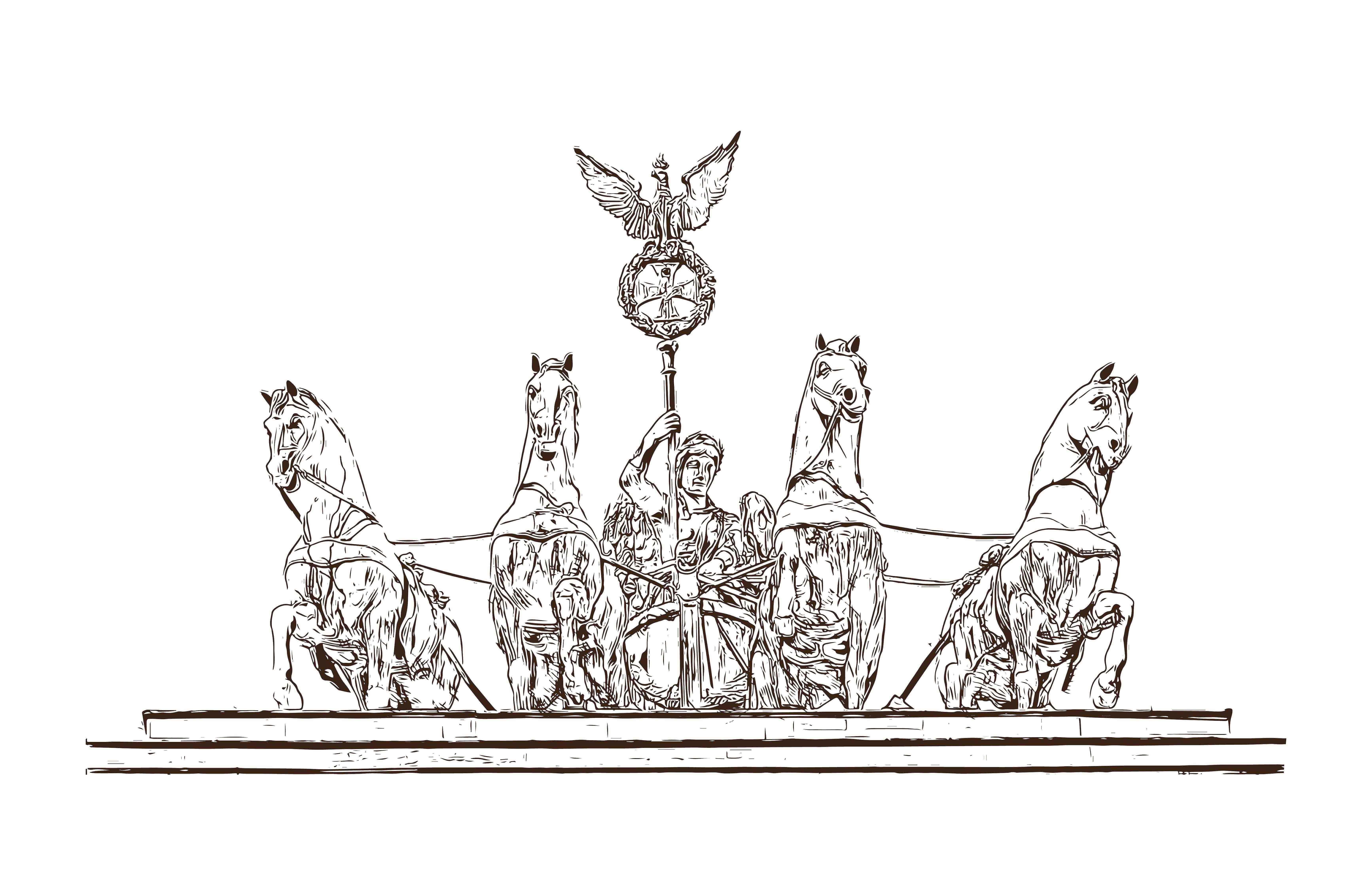 Quando as corridas eram feitas em quadrigas de cavalos?