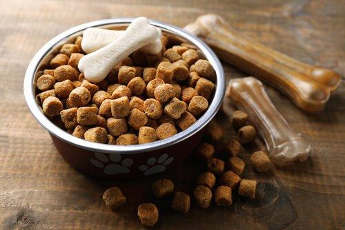 Carboidratos em petiscos para cães e gatos