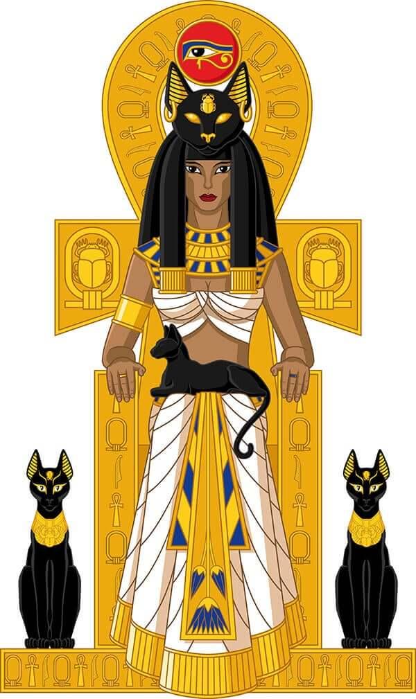 Os gatos no antigo Egito