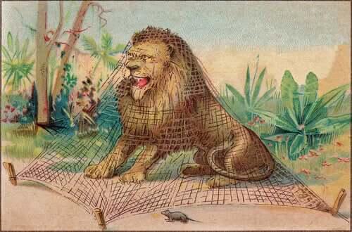 Fábulas de animais? O leão e o rato
