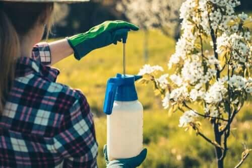 Uso de pesticidas no jardim