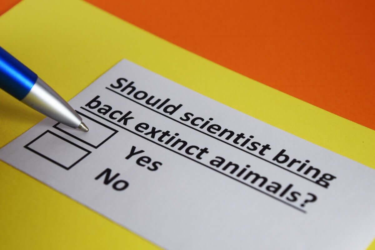 É realmente possível resgatar uma espécie?