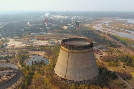 Uma vista panorâmica de Chernobyl.