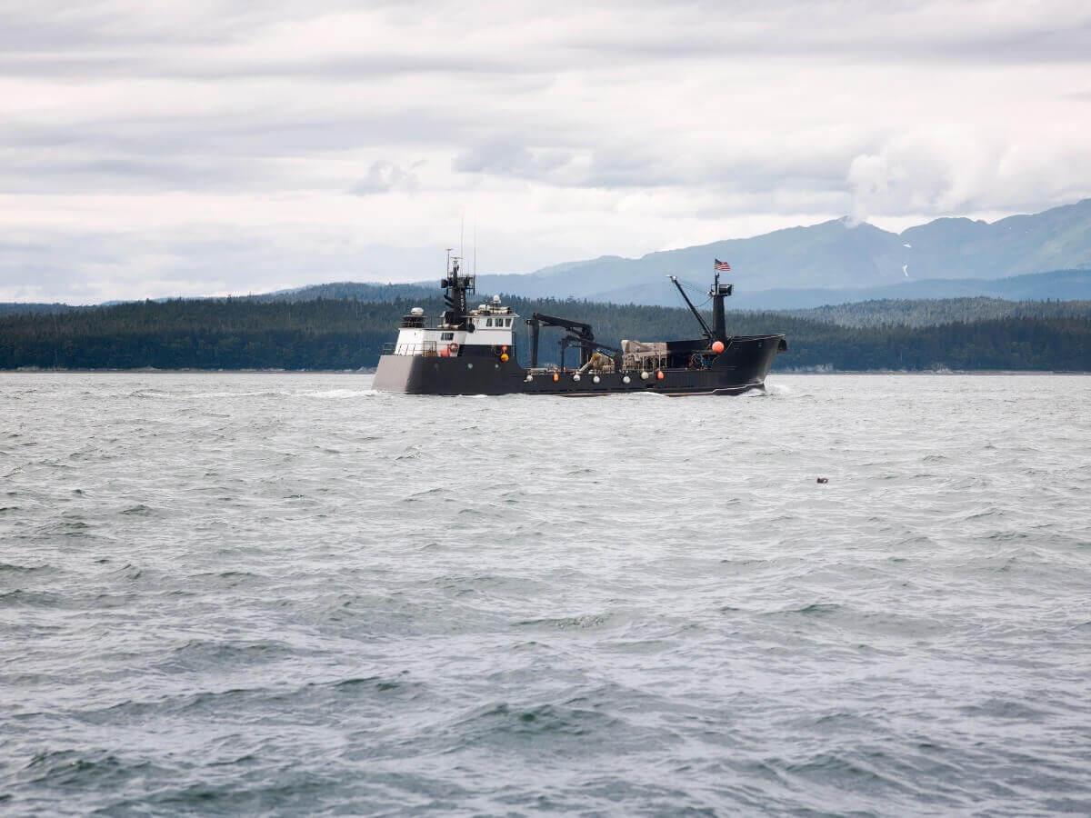 Pesca de caranguejos no mar de Bering.